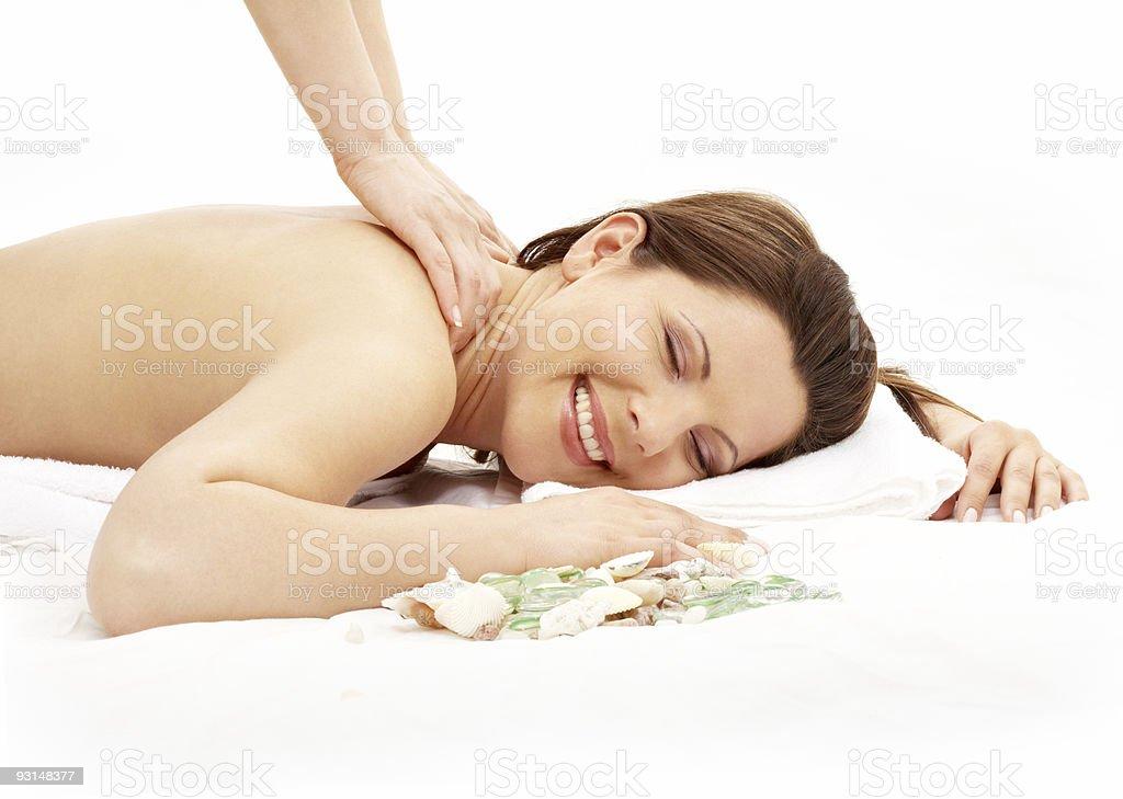 happy massage #2 royalty-free stock photo