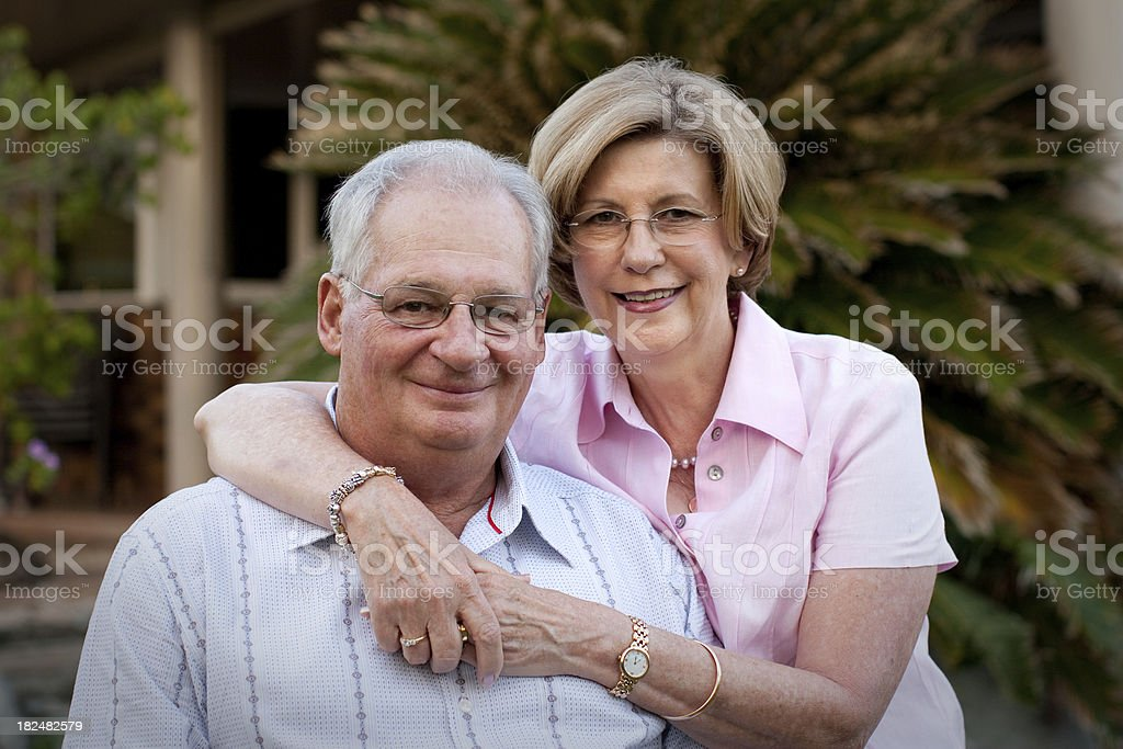 Happy Mature Couple outdoors royalty-free stock photo