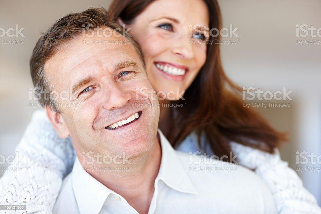 Happy mature couple royalty-free stock photo