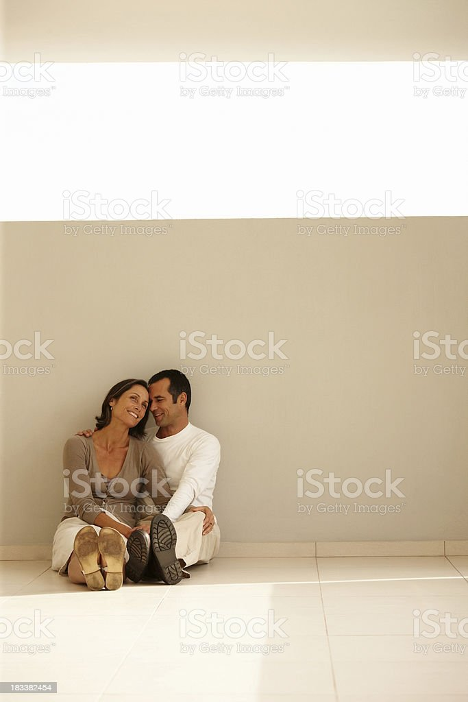 Happy, mature couple sharing a romantic moment royalty-free stock photo