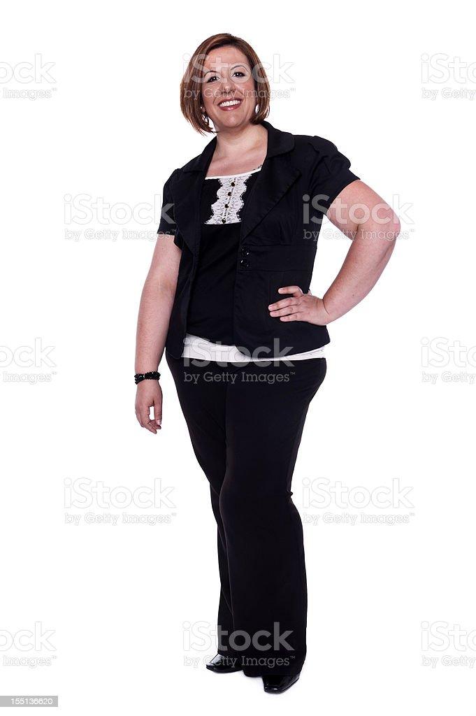 Happy Mature Hispanic Woman (real people) stock photo
