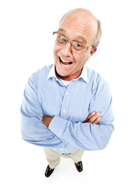 Happy Mature Man  fish eye lens stock pictures, royalty-free photos & images