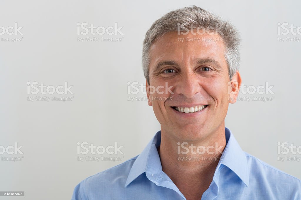 Happy Mature Man stock photo