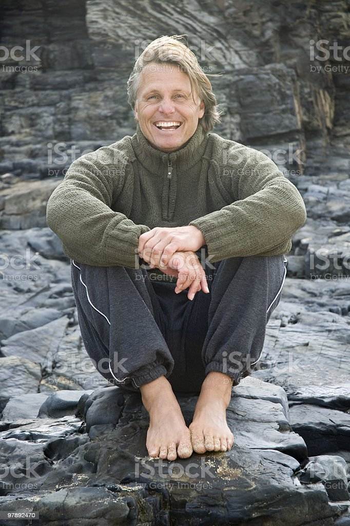 Happy mature man. royalty-free stock photo