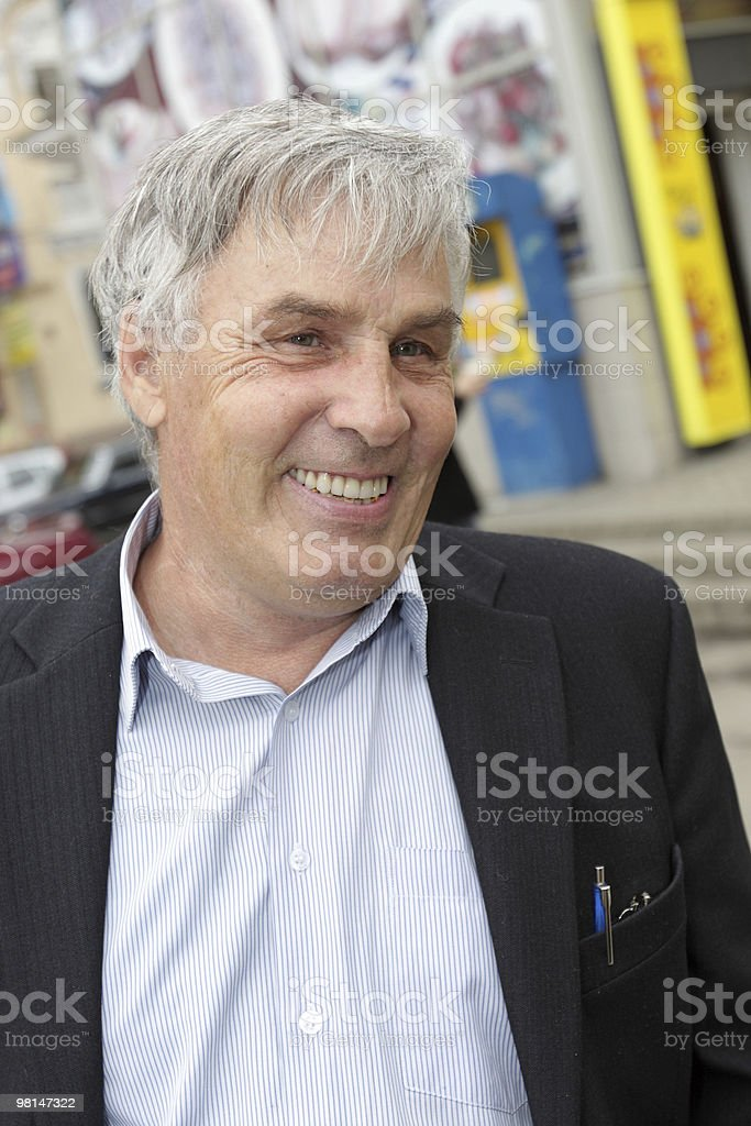 Happy mature man royalty-free stock photo
