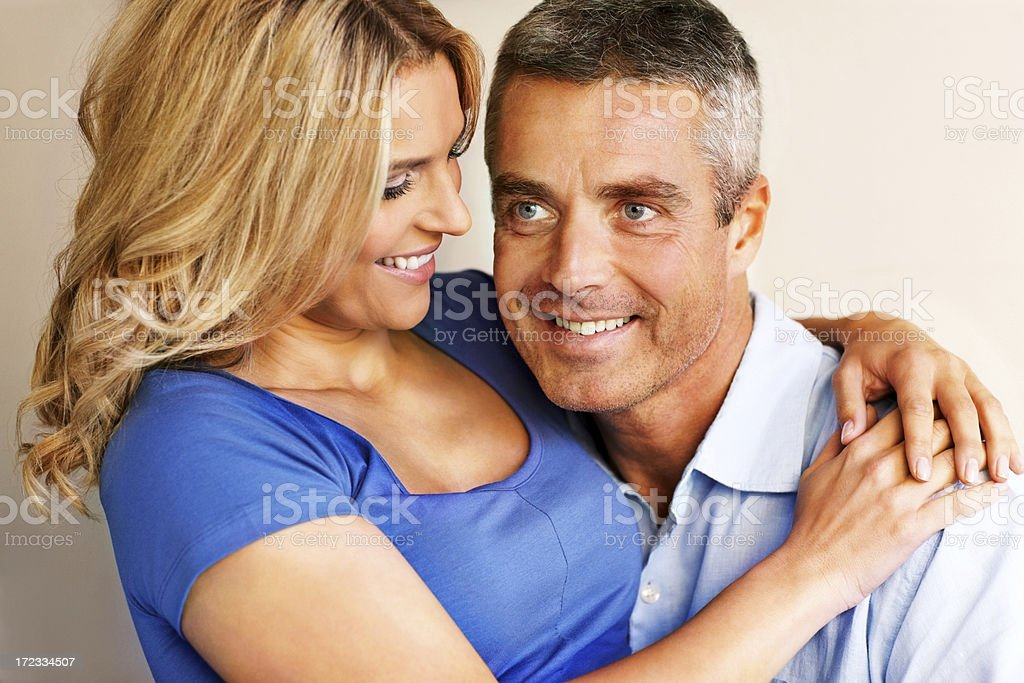 Happy mature romantic couple together royalty-free stock photo