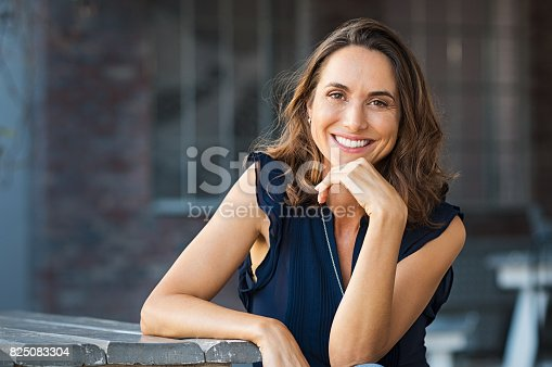 istock Happy mature woman outdoor 825083304