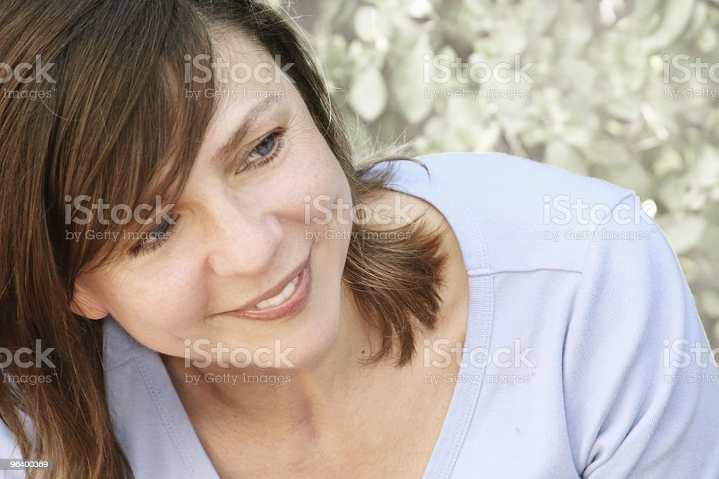 Happy mature woman outdoors - Royalty-free Adult Stock Photo