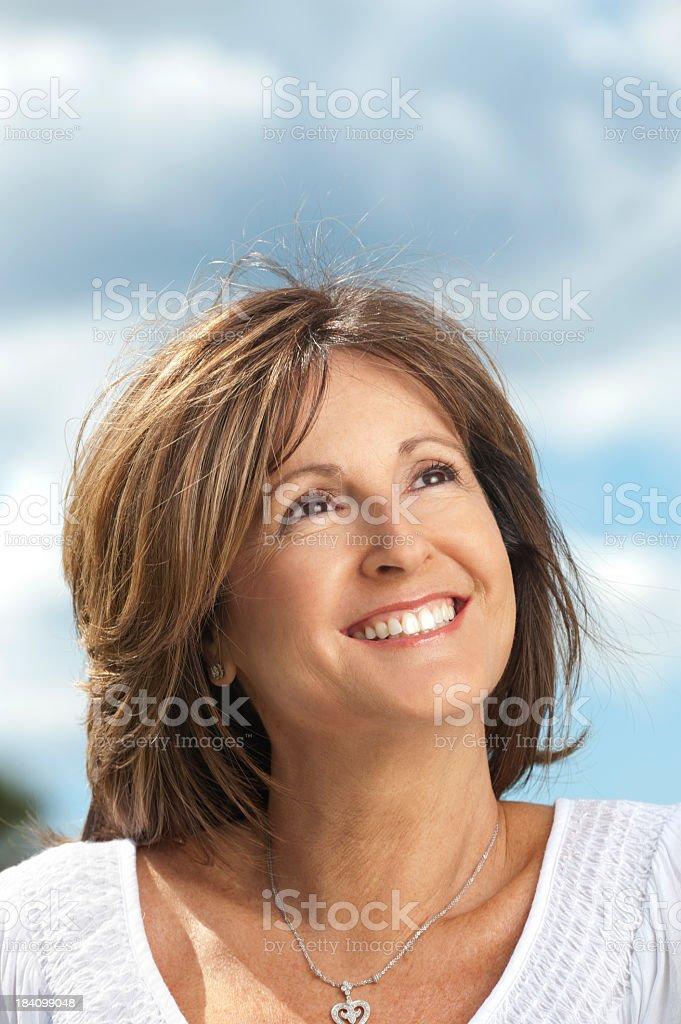 Happy mature woman royalty-free stock photo