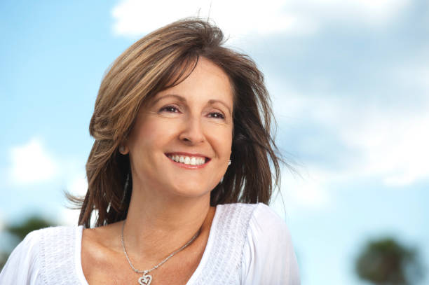 happy mature woman - 40 49 years stock pictures, royalty-free photos & images