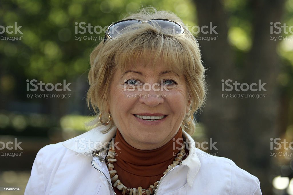 Happy mature woman - Royalty-free Adult Stock Photo