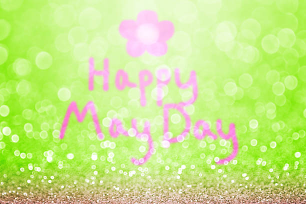 Fond de jour heureux de mai - Photo