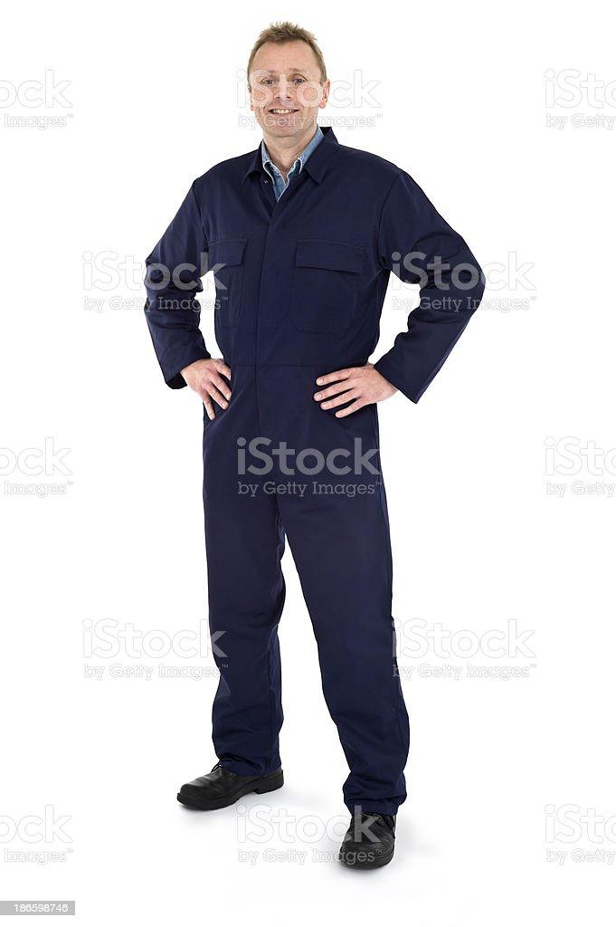 Happy Mechanic stock photo