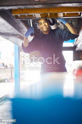 599909112 istock photo Happy mechanic 599908862