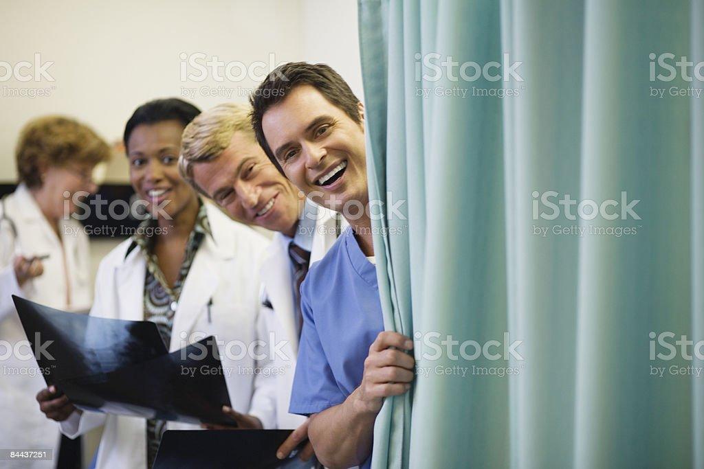 Happy Medical STAFF royalty-free stock photo