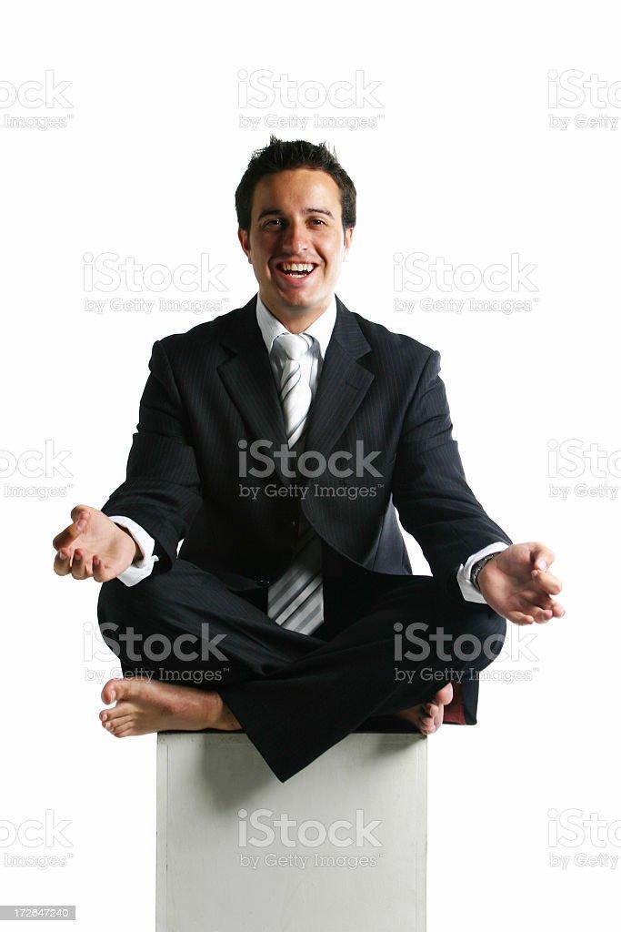 Happy Meditation royalty-free stock photo