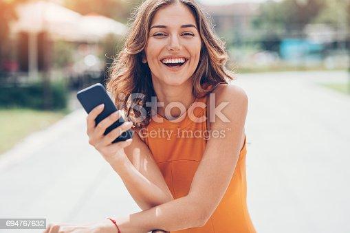 istock Happy message 694767632