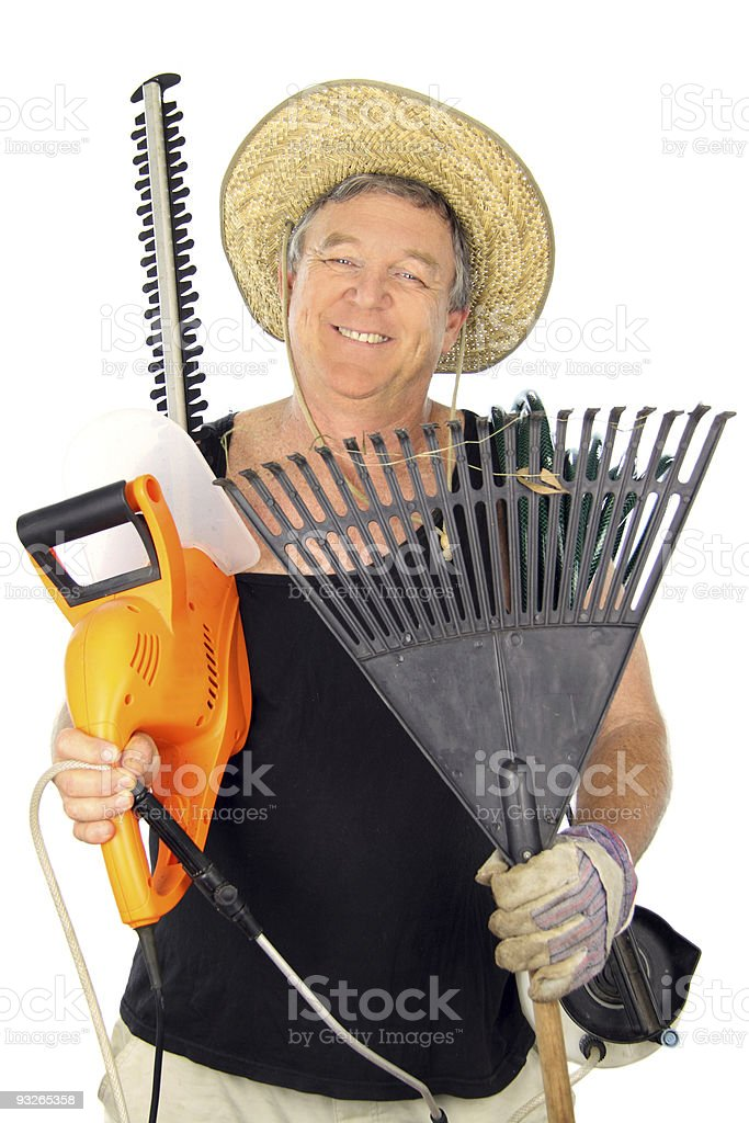 Happy Middle Aged Gardener royalty-free stock photo