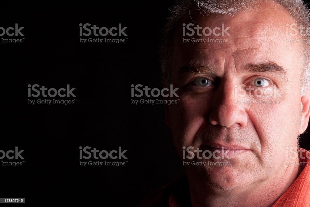Happy Middle Aged Man royalty-free stock photo
