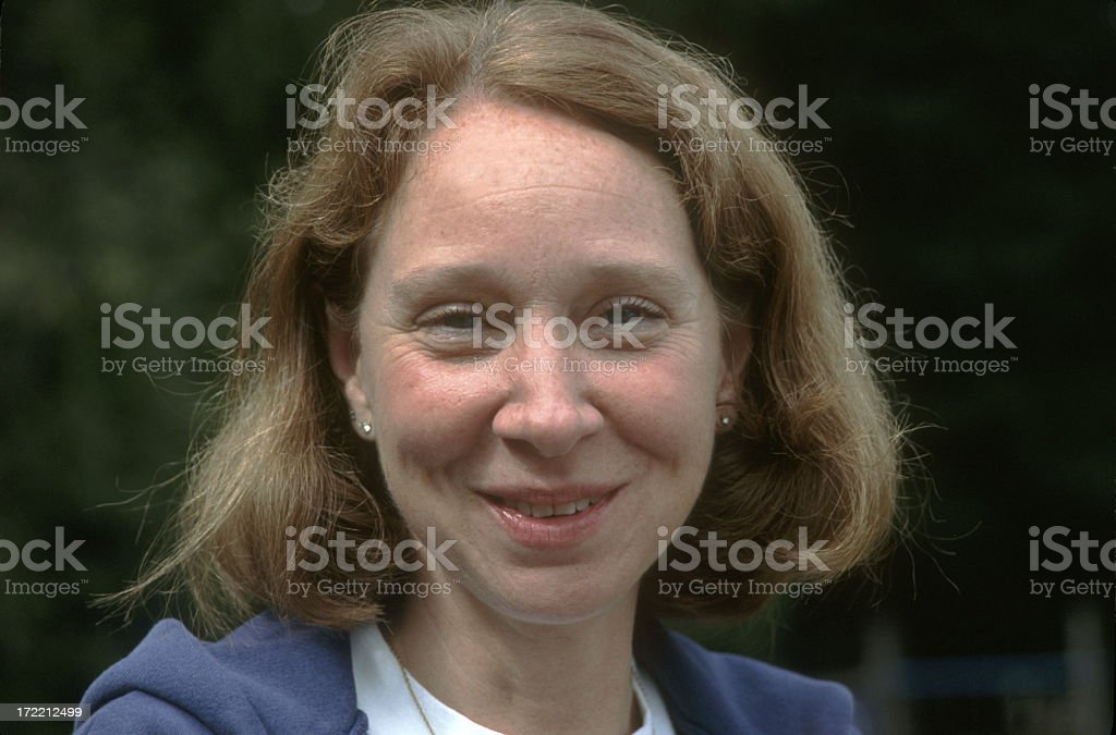 Happy middle-aged woman. royalty-free stock photo