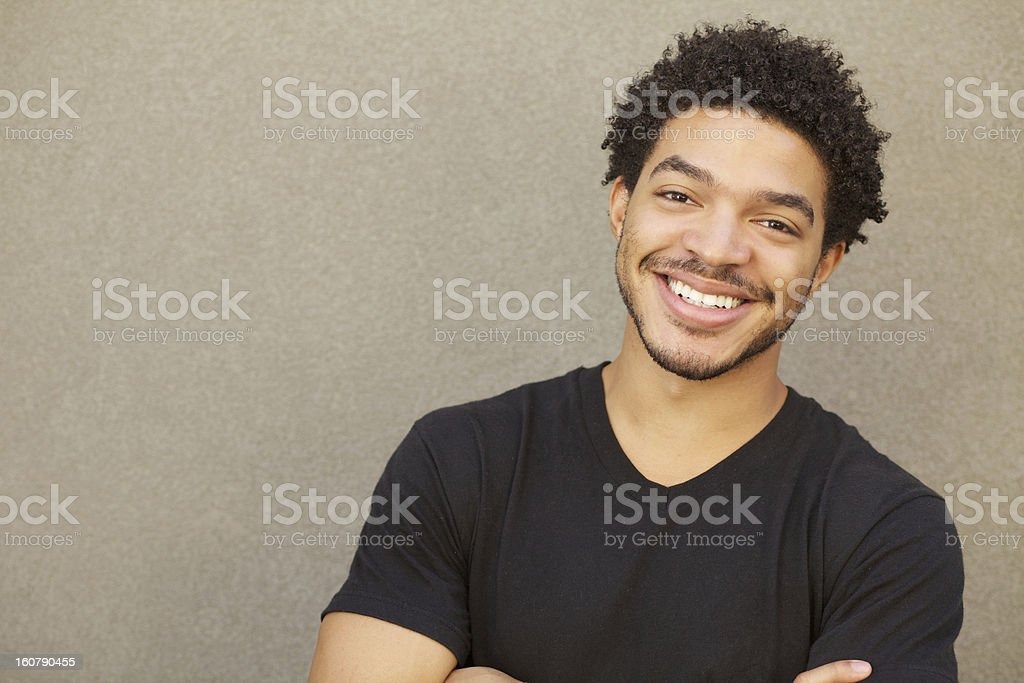Happy Mixed Race Male Smiling Portrait stock photo