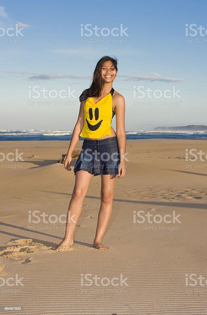 Happy Model royaltyfri bildbanksbilder
