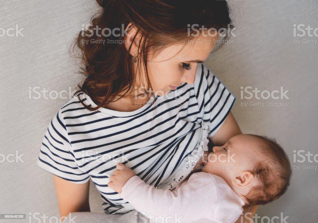 Feliz Madre y bebé - foto de stock
