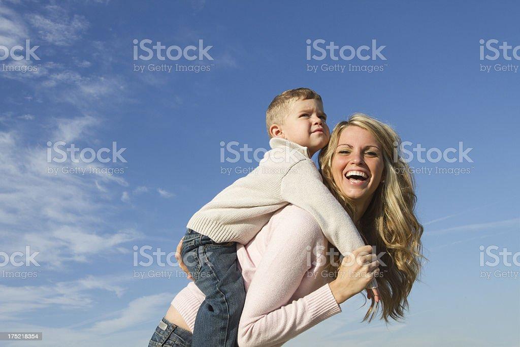 happy mom and son royalty-free stock photo