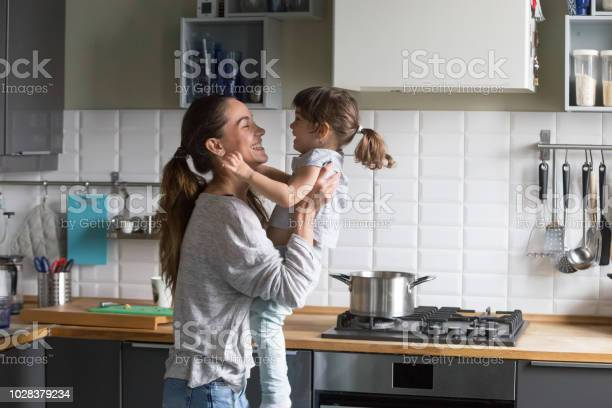 Happy mom holding kid girl laughing playing in the kitchen picture id1028379234?b=1&k=6&m=1028379234&s=612x612&h=satqgozll8ypv4lpyw45q3h6sfbd dxl9v1swademru=