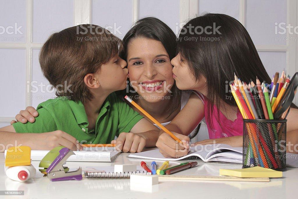 Happy Mom stock photo