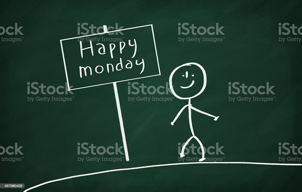 Happy monday stock photo