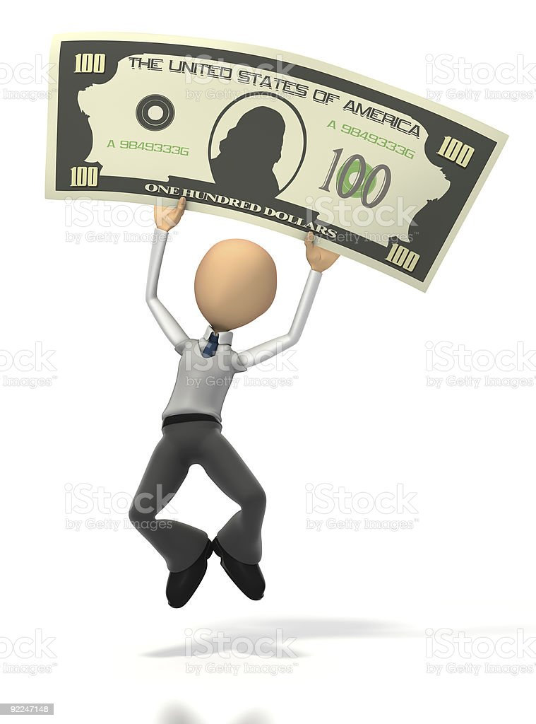 Happy money stock photo