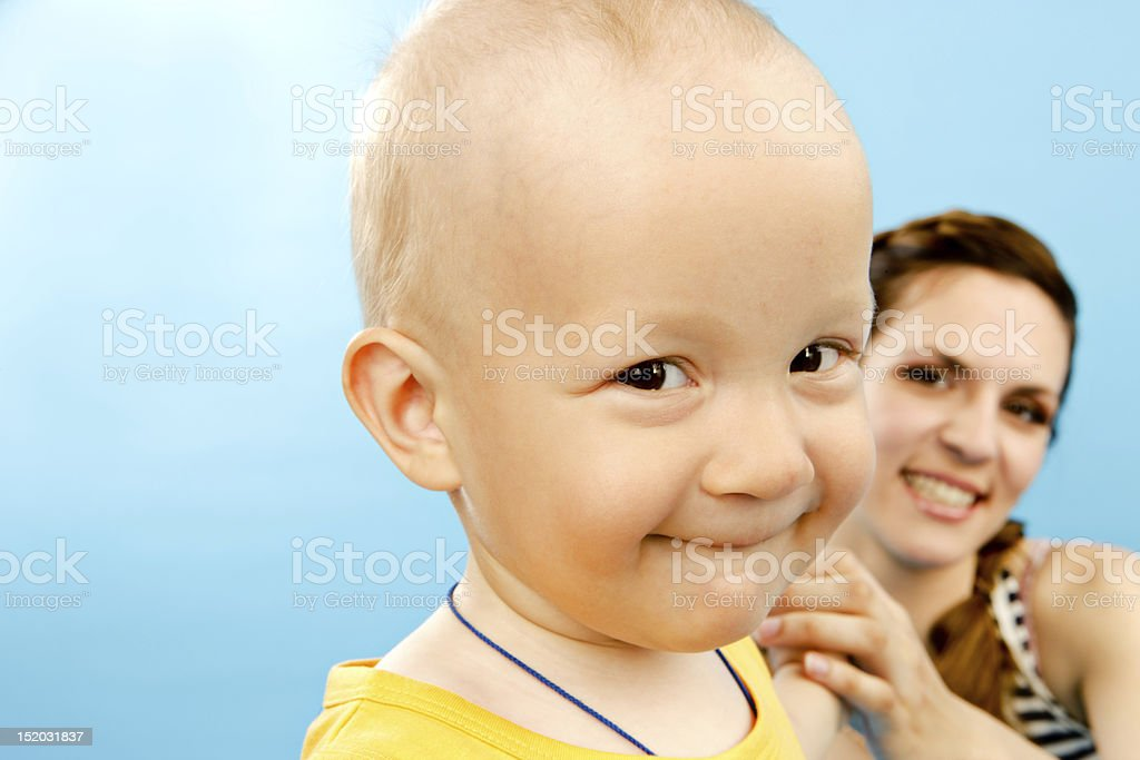 Happy Mother and Child stock photo