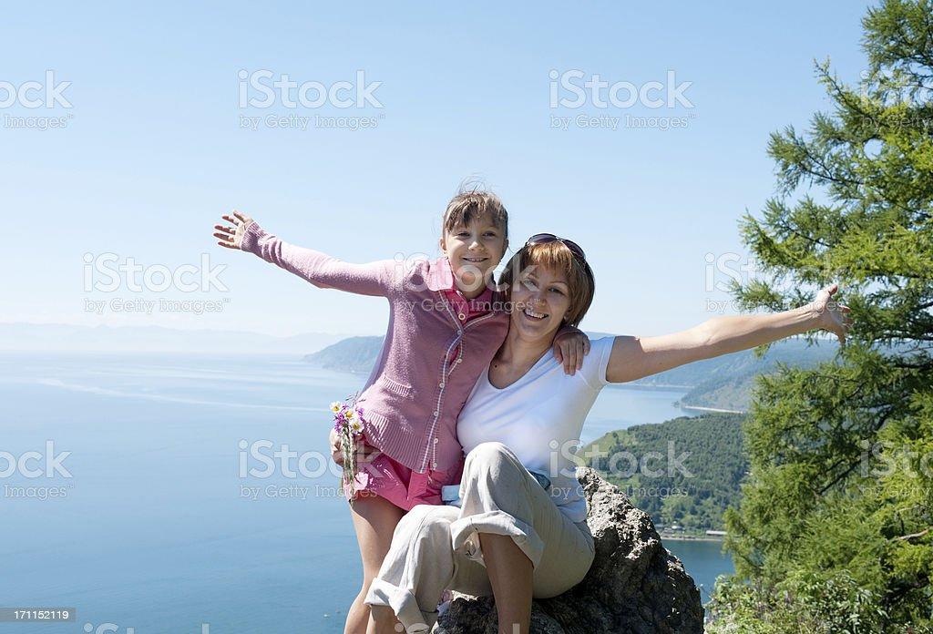 Glückliche Mutter und Tochter – Foto