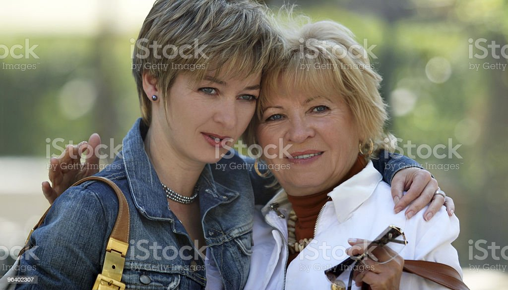 Happy mother and daughter - Royalty-free Active Seniors Stock Photo