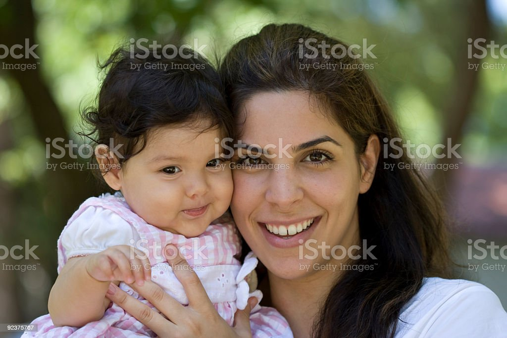 Happy Mother  Holding her baby royalty-free stock photo