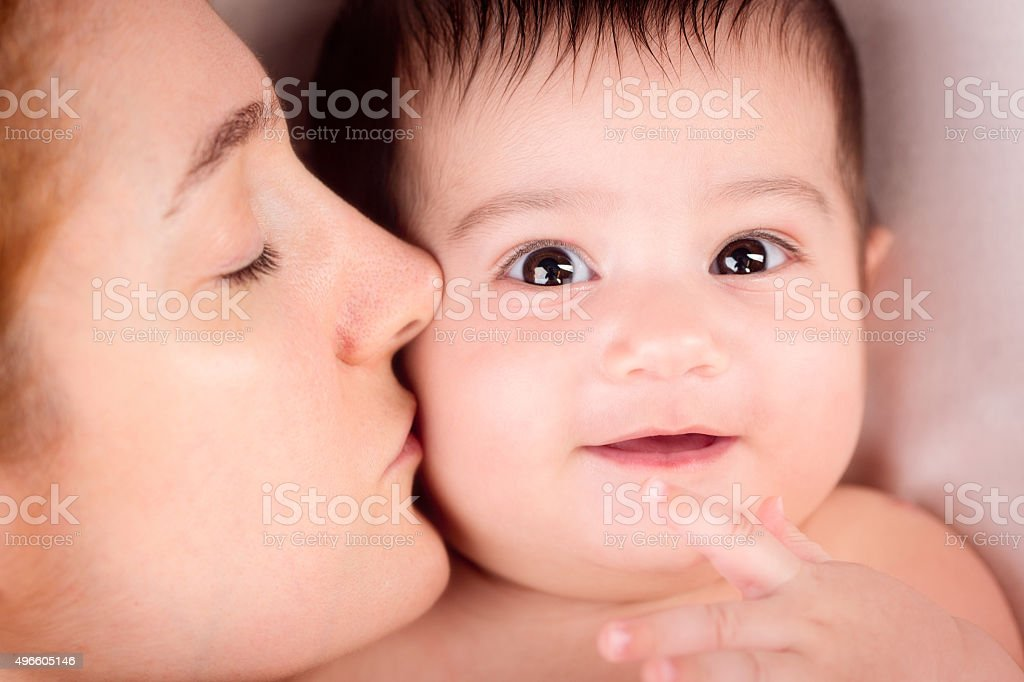 Happy Mother With Adorable Baby stock photo