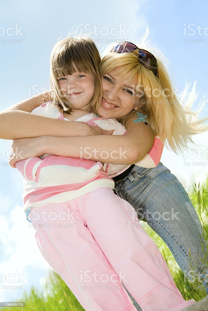 Happy mother with daughter royalty-free stock photo