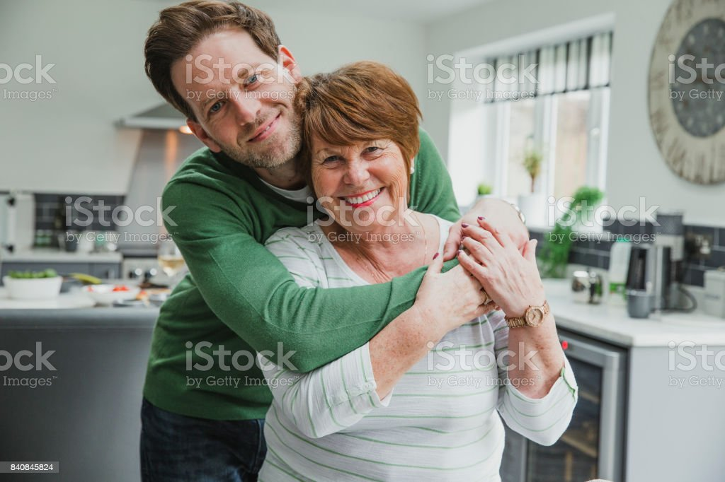 Happy Mother With Son stock photo