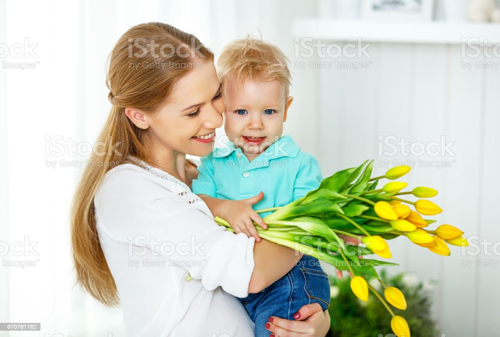 Son gives mom a baby