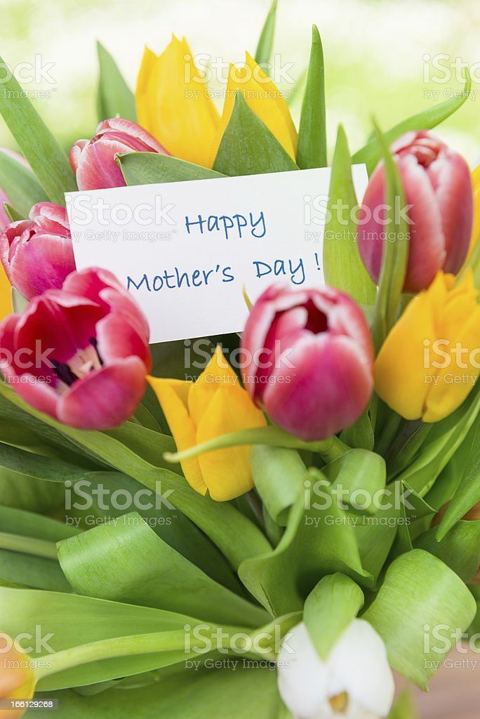 Happy mother's day bouquet of flowers royalty-free stock photo