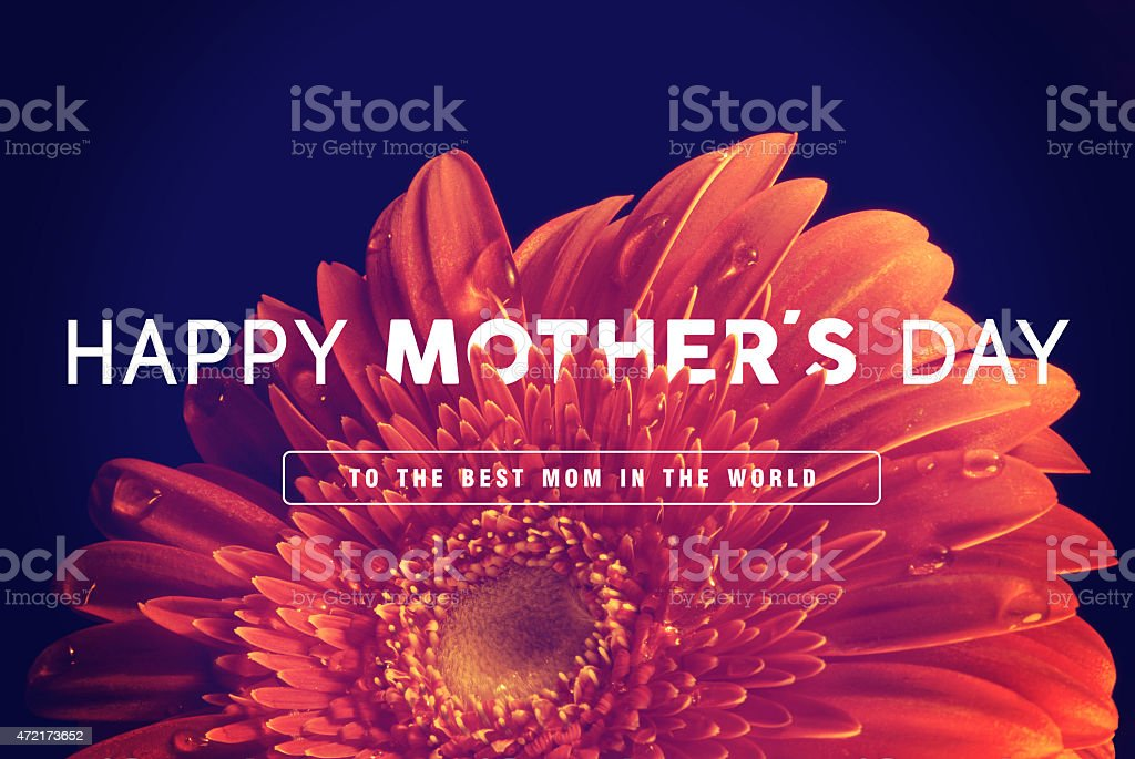 Happy Mothers day greeting card background stock photo