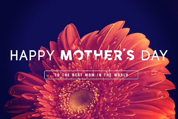 happy mothers day greeting card background - happy mothers day type stock photos and pictures