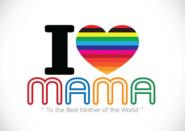 happy mothers day greeting card design for your mom - happy mothers day type stock photos and pictures