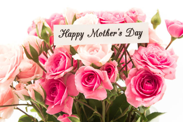 happy mother's day,  greeting card - happy mothers day type stock photos and pictures