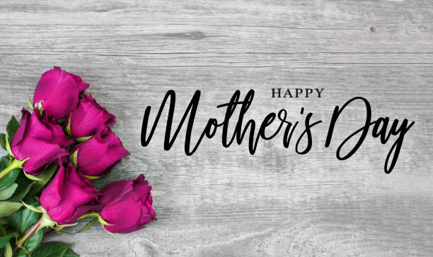 happy mother's day holiday calligraphy - happy mothers day type stock photos and pictures