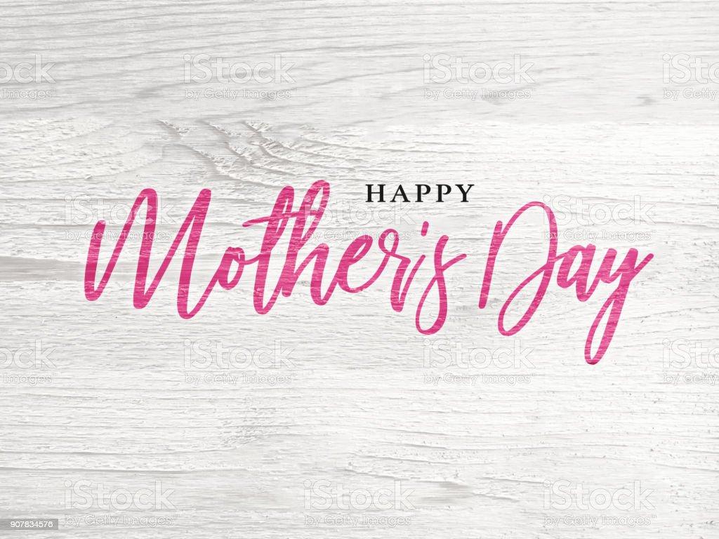 Schönen Muttertag Holiday rosa Kalligraphie Text – Foto