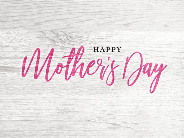 happy mother's day holiday pink calligraphy text - mothers day stock pictures, royalty-free photos & images