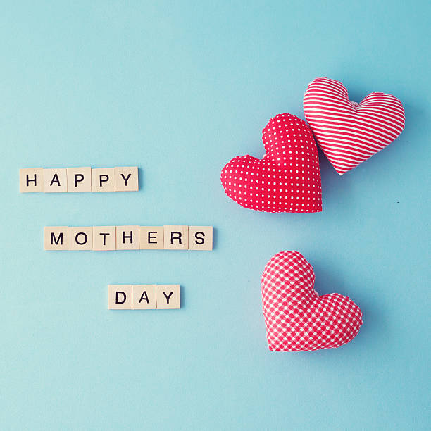 A Happy Mothers Day Message card  stock photo