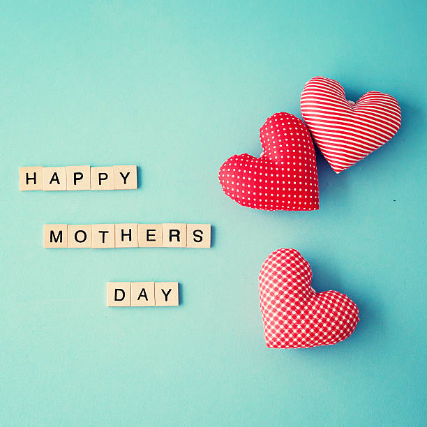 Happy Mothers Day Message stock photo